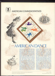 1749-52 13c American Dance USPS Cat. 94 Commemorative Panel cp094