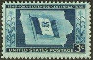 942 3c Iowa Statehood F-VF Mint NH 942nh