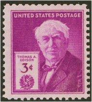945 3c Thomas Edison F-VF Mint NH 945nh