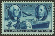 947 3c Postage Centenary F-VF Mint NH 947nh