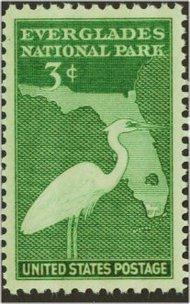 952 3c Everglades F-VF Mint NH 952mj