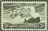 956 3c Four Chaplains F-VF Mint NH 956nh