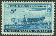 958 5c Swedish Pioneers F-VF Mint NH 958nh