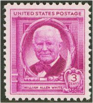 960 3c William A. White F-VF Mint NH 960nh