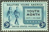 963 3c American Youth F-VF Mint NH 963nh