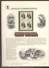 1755 13c Jimmie Rodgers USPS Cat. 97 Commemorative Panel cp097