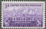 970 3c Fort Kearney F-VF Mint NH 970nh