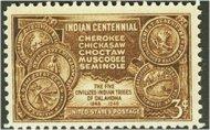 972 3c Indian Centennial F-VF Mint NH 972nh