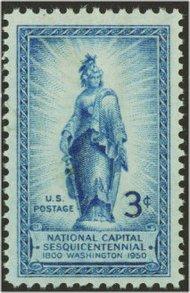 989 3c Freedom Statue F-VF Mint NH 989nh