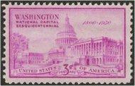 992 3c U.S. Capitol F-VF Mint NH 992nh