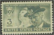 998 3c Confederate Vets F-VF Mint NH 0998nh