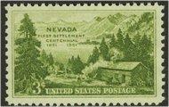 999 3c Nevada F-VF Mint NH 0999nh