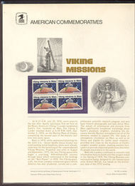 1759 15c Viking Missions USPS Cat. 100 Commemorative Panel cp100