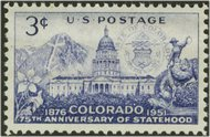 1001 3c Colorado F-VF Mint NH 1001nh