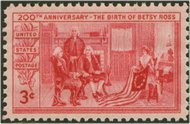 1004 3c Betsy Ross F-VF Mint NH 1004nh