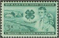 1005 3c 4-H Clubs F-VF Mint NH 1005nh