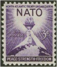 1008 3c N.A.T.O. F-VF Mint NH 1008nh