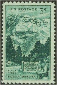 1011 3c Mount Rushmore F-VF Mint NH 1011nh