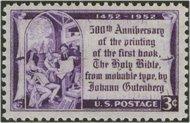 1014 3c Gutenberg Bible F-VF Mint NH 1014nh