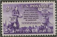 1015 3c Newspaper Boys F-VF Mint NH 1015nh