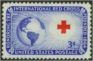 1016 3c Int'l. Red Cross F-VF Mint NH 1016nh