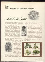 1764-67 15c American Trees USPS Cat. 102 Commemorative Panel cp102