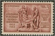 1020 3c Louisiana Purchase F-VF Mint NH 1020nh