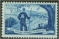 1024 3c Future Farmers F-VF Mint NH 1024nh