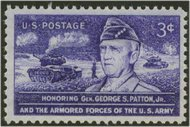 1026 3c General Patton F-VF Mint NH 1026nh