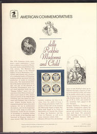 1768 15c Madonna and Child USPS Cat. 103  Commemorative Panel cp103