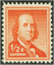 1030 1/2c Ben Franklin F-VF Mint NH 1030nh