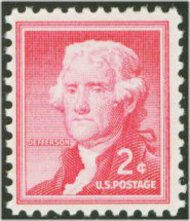 1033 2c Thomas Jefferson F-VF Mint NH 1033nh