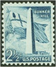 1034 2 1/2c Bunker Hill F-VF Mint NH 1034nh