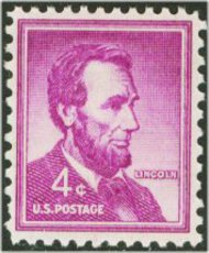 1036 4c Abe Lincoln F-VF Mint NH 1036nh