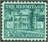 1037 4 1/2c Hermitage F-VF Mint NH Plate Block of 4 1037pb
