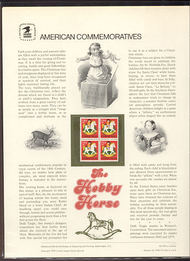 1769 15c Christmas-Hobby Horse USPS Cat. 104  Commemorative Panel cp104