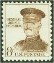1214 (Old 1042A) 8c General Pershing F-VF Mint NH Plate Block 1214apb