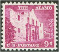 1043 9c The Alamo F-VF Mint NH 1043nh