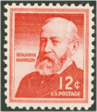 1045 12c Benjamin Harrison F-VF Mint NH 1045nh