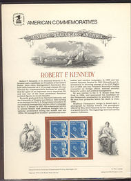 1770 15c Robert F. Kennedy USPS Cat. 105  Commemorative Panel co105
