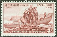 1063 3c Lewis & Clark F-VF Mint NH Plate Block of 4 1063pb