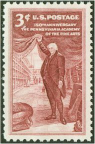 1064 3c Pennsylania Academy F-VF Mint NH Plate Block of 4 1064pb