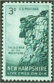 1068 3c New Hampshire F-VF Mint NH 1068nh