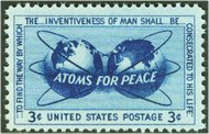 1070 3c Atoms for Peace F-VF Mint NH Plate Block of 4 1070pb