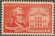 1086 3c Alexander Hamilton F-VF Mint NH 1086nh