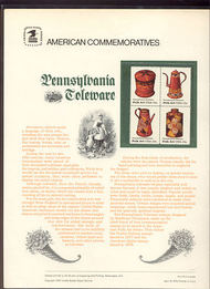 1775-78 15c Pennsylvania Toleware USPS Cat. 110 Commemorative P cp110