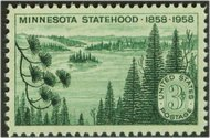 1106 3c Minnesota Statehood F-VF Mint NH 1106nh