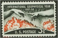 1107 3c Geophysical Year F-VF Mint NH Plate Block of 4 1107pb