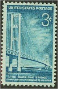 1109 3c Mackinac Bridge F-VF Mint NH 1109nh