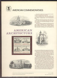 1779-82 15c American Architecture USPS Cat. 111  Commemorative Panel cp111